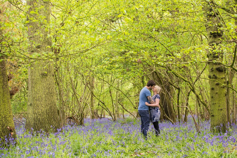 Slice of Life Photography - Pre-wedding photo in the Bluebell Woodlands
