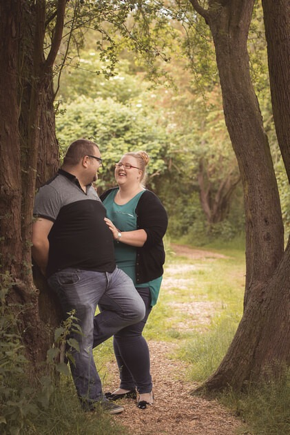 Slice of Life Photography - Pre-wedding engagement photoshoot in the woodland walk of Deeping Lakes, Lincolnshire wedding Photographer