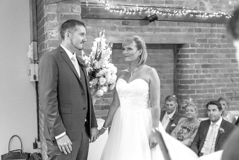 Slice of Life Photography - black and white wedding ceremony photography at Whaplode Manor by Slice of Life Photography, Holbeach wedding photographer