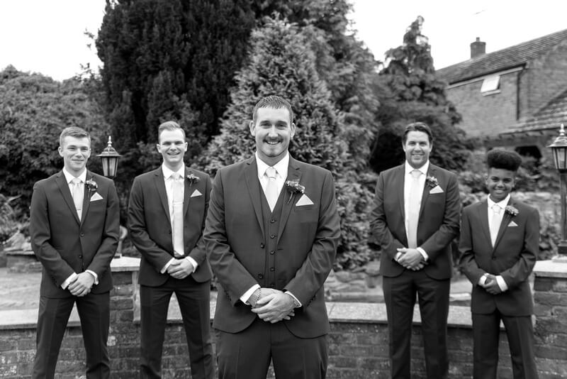 Slice of Life Photography - Groomsman black and white photography