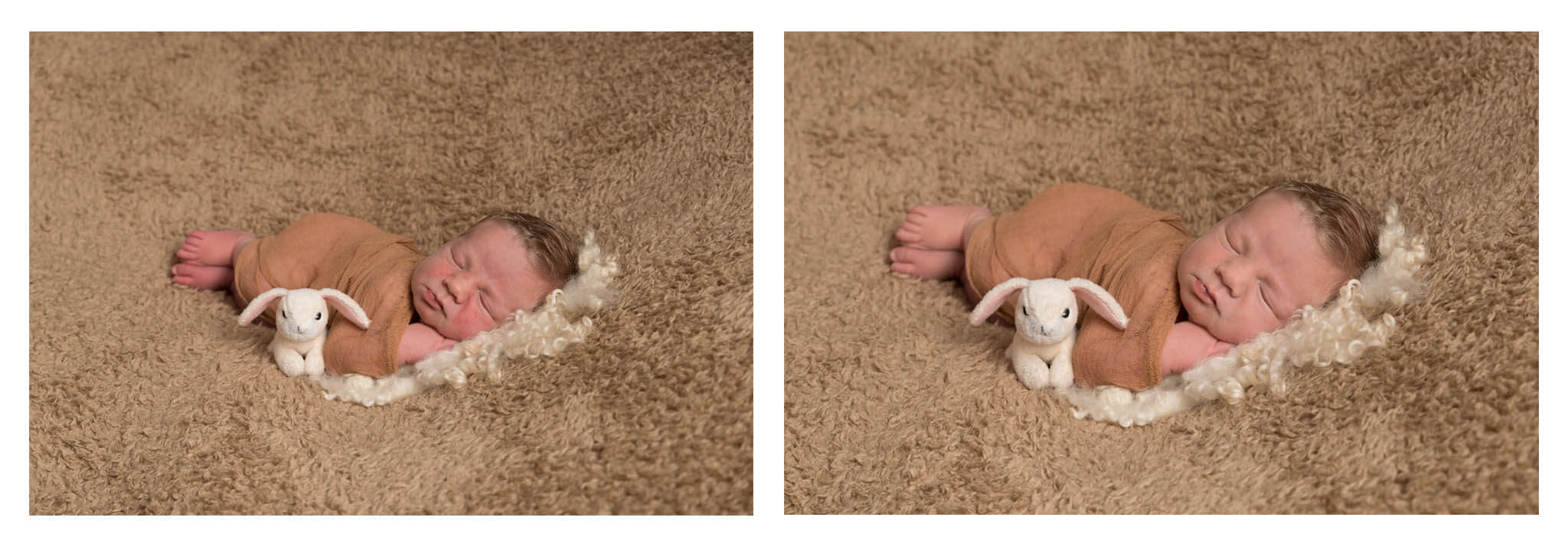 Slice of Life Photography -  before and after of newborn photography edit, Boston photography studio