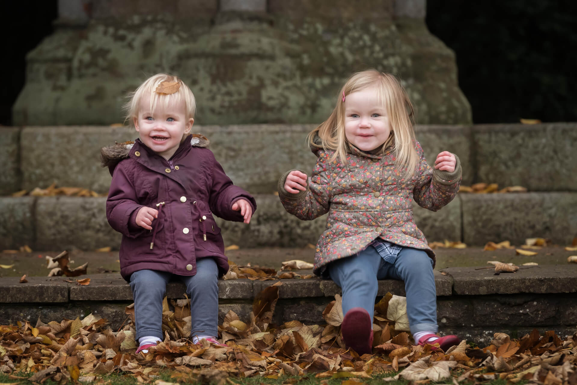 autumn outdoor family photoshoot - Sisters - Slice of Life Photography, Lincolnshire