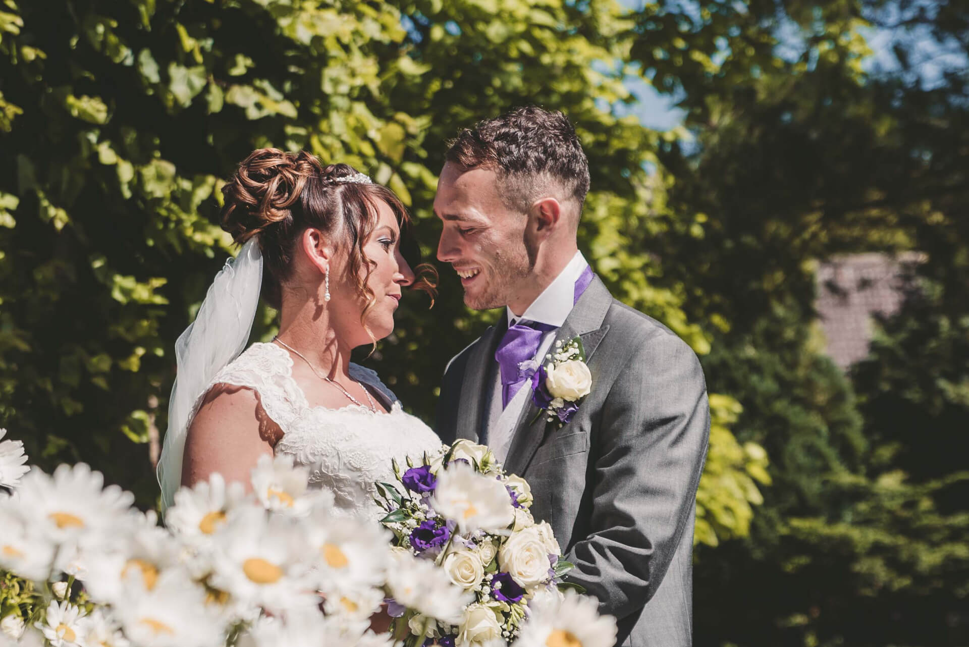 Bride and groom portrait - Lincolnshire wedding photographer - Slice of Life Photography