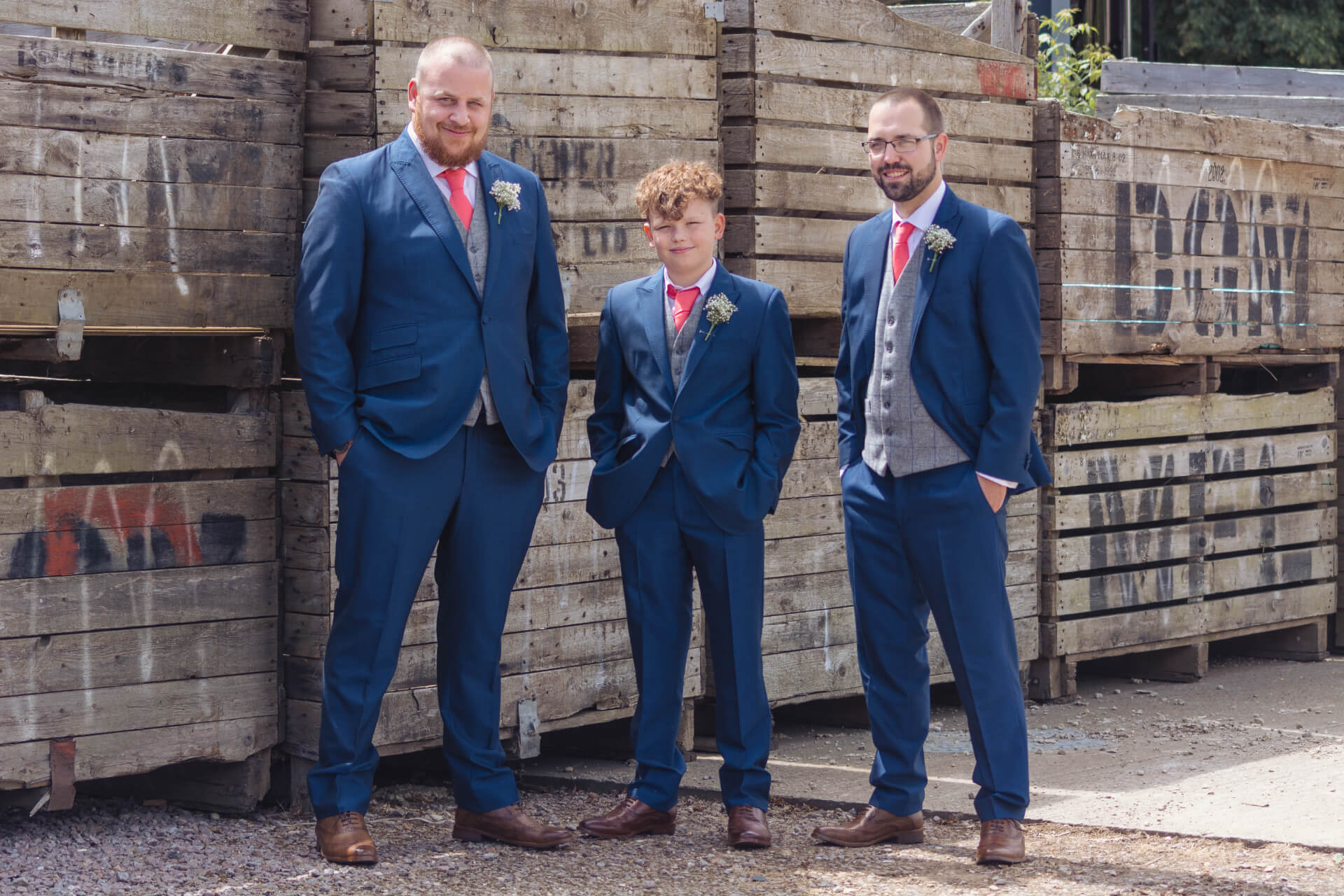 Groomsmen outside Whaplode Manor - Slice of Life Wedding Photography