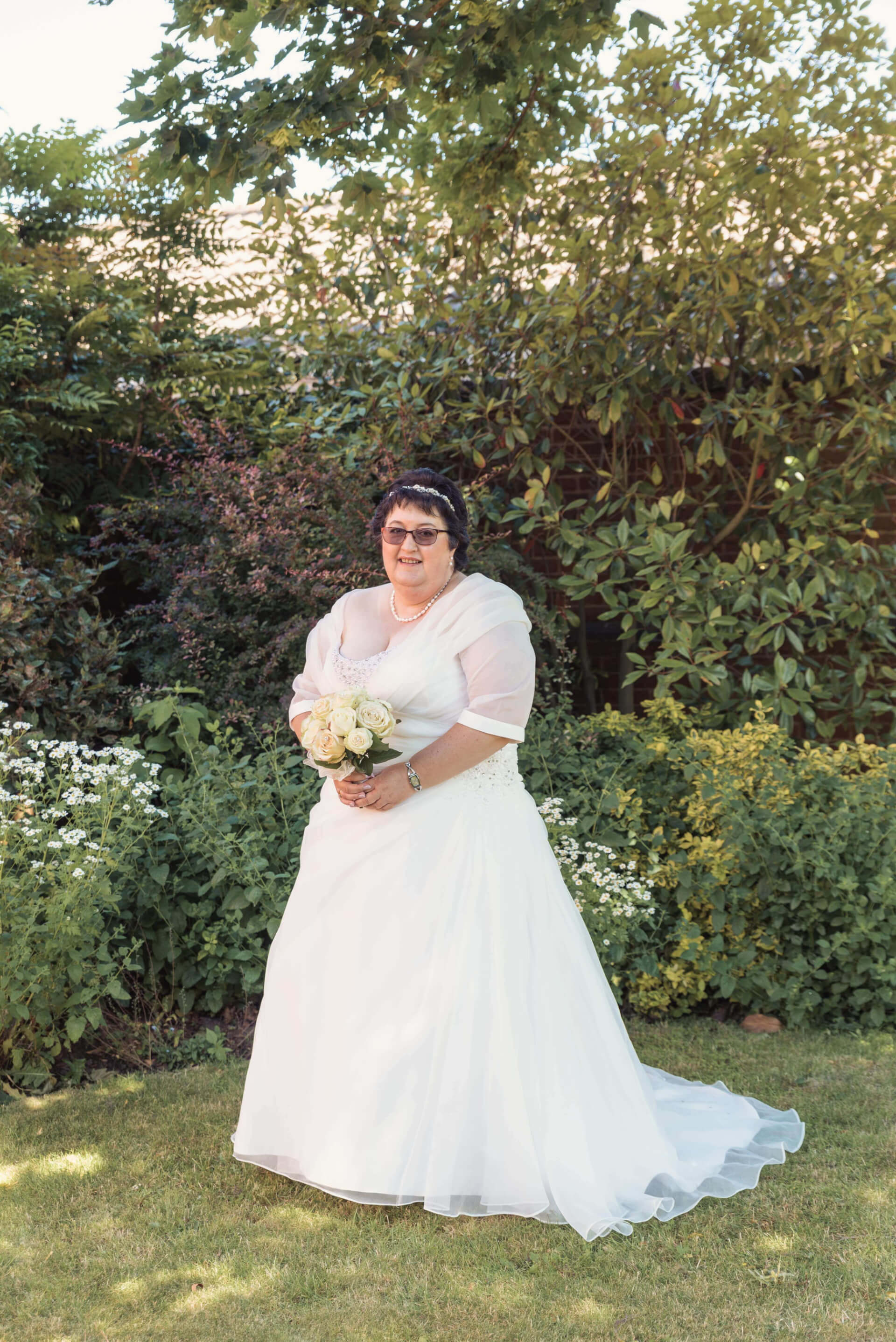 Bridal Portrait in Gardens at Woodlands Hotel, Spalding by Slice of Life Photography